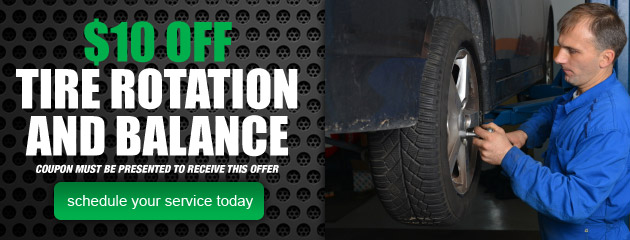 $10 Off Tire Rotation and Balance