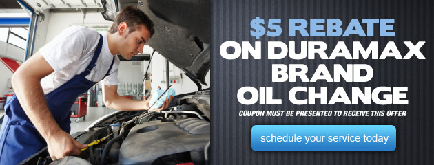 $5 Rebate on Duramax Brand Oil Change