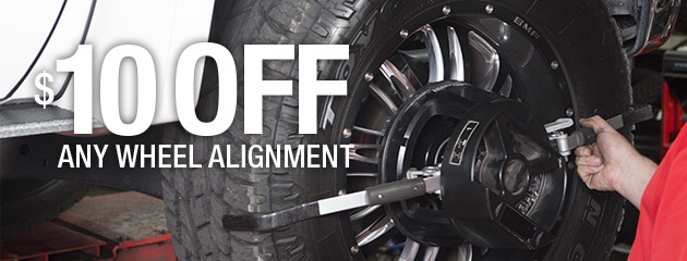 $10 Off Any Wheel Alilgnment